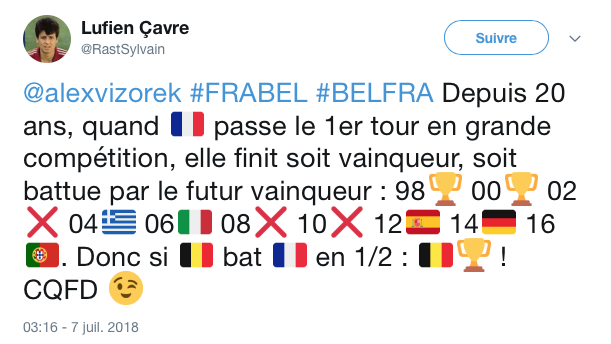 top tweets France Belgique 2018 3