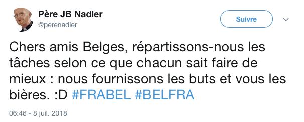 top tweets France Belgique 2018 2