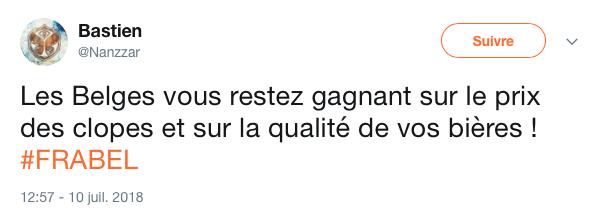 top tweet Belgique France 34