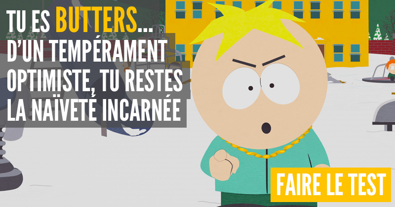 [Test] Quel personnage de South Park es-tu ? Butters