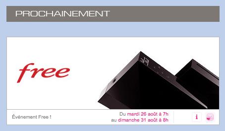 vente priv e pour la freebox r volution ne trainez pas. Black Bedroom Furniture Sets. Home Design Ideas
