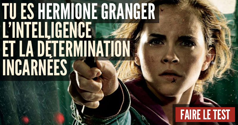 [Test] Quel personnage d'Harry Potter es-tu? Hermione