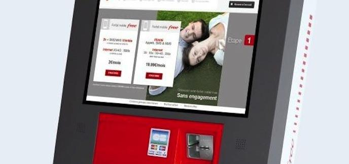 free une borne interactive pour souscrire ses forfaits. Black Bedroom Furniture Sets. Home Design Ideas