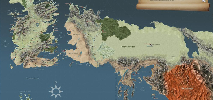 une superbe carte interactive de game of thrones dans le style de google maps. Black Bedroom Furniture Sets. Home Design Ideas