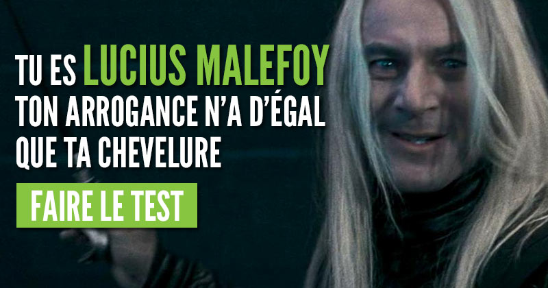 Quel méchant Harry Potter es-tu ?  Malefoy