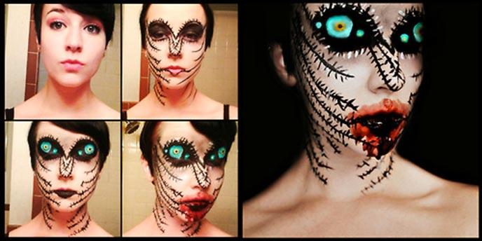 maquillage halloween terrifiant