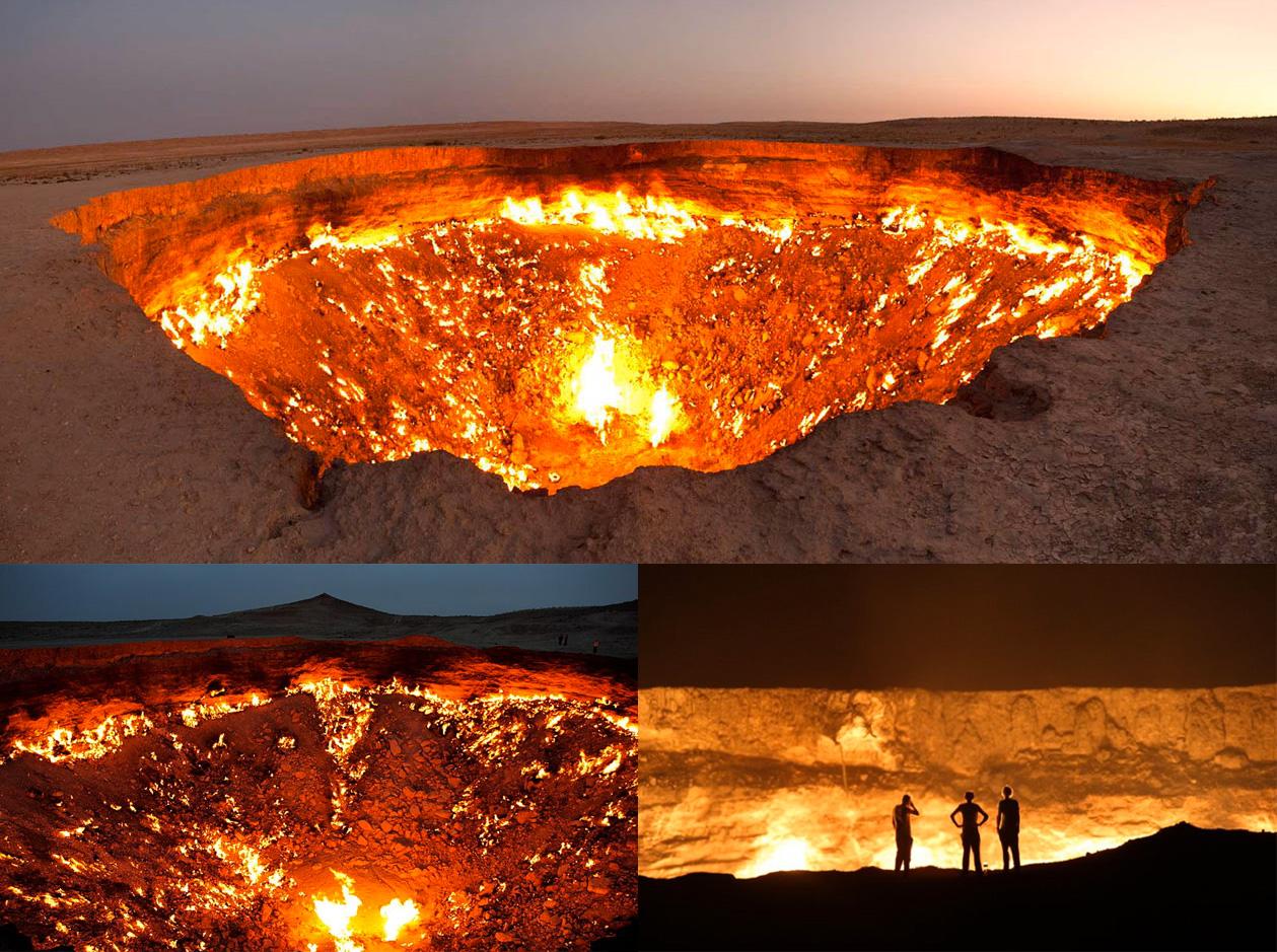 La porte de l 39 enfer au turkm nistan br le depuis 43 ans - Les portes de l enfer turkmenistan ...