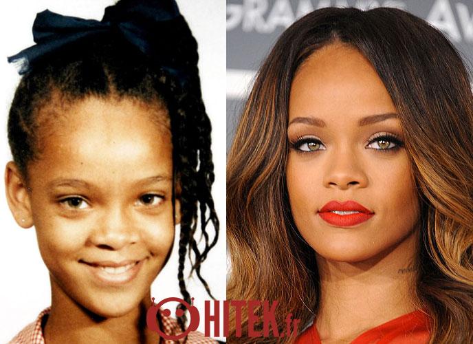 Avant apr s quoi ressemblaient ces 70 stars quand elles taient plus jeunes - Rihanna avant apres ...