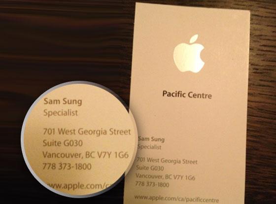 Et Non Sam Sung Existait Bel Bien Cetait Un Employe Dans Apple Store A Vancouver Au Canada Eh Sachez Que Est Blagueur Grand