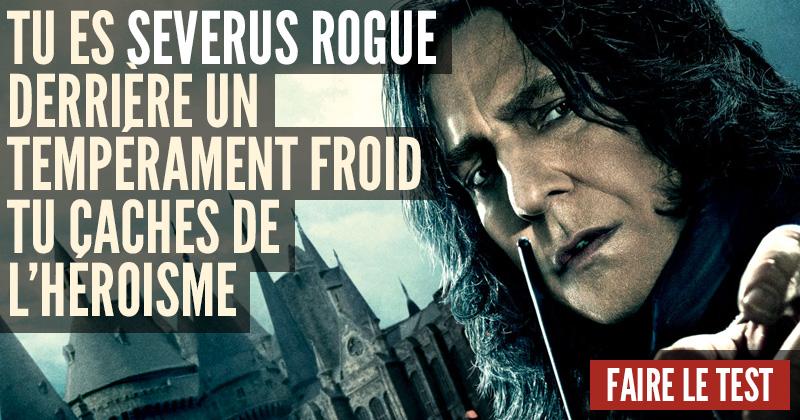 Quel personnage d'Harry Potter êtes-vous ? Severus