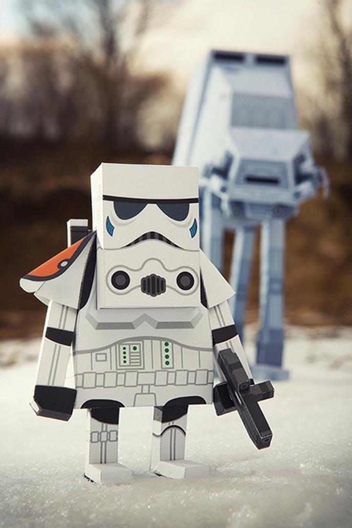 Les personnages de star wars en papercraft - Personnage de starwars ...