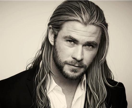 Deux acteurs marvel lus hommes les plus sexy au monde - Dessin de thor ...