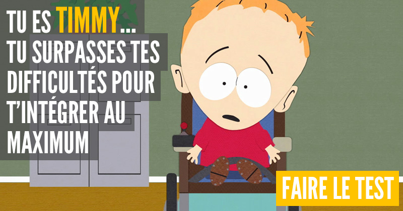 [Test] Quel personnage de South Park es-tu ? Timmy