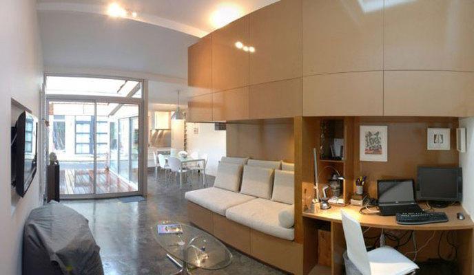 il transforme un garage en un somptueux appartement - Transformer Garage En Chambre Prix
