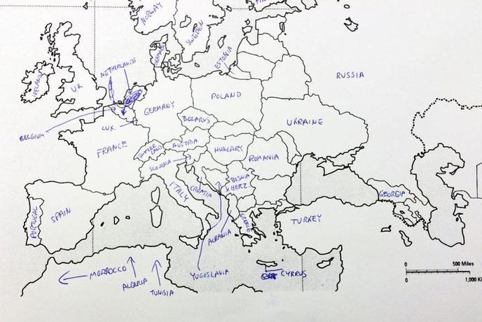Carte Europe Blanche.La Carte De L Europe Vue Par Les Americains