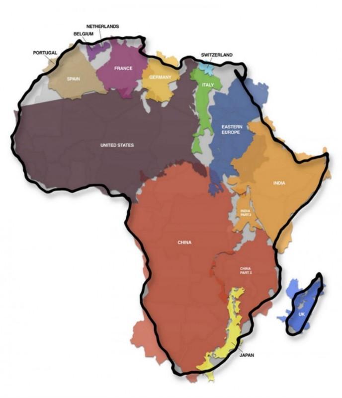 Carte Russie Australie.Vous Allez Etre Surpris Par La Veritable Taille De L Afrique