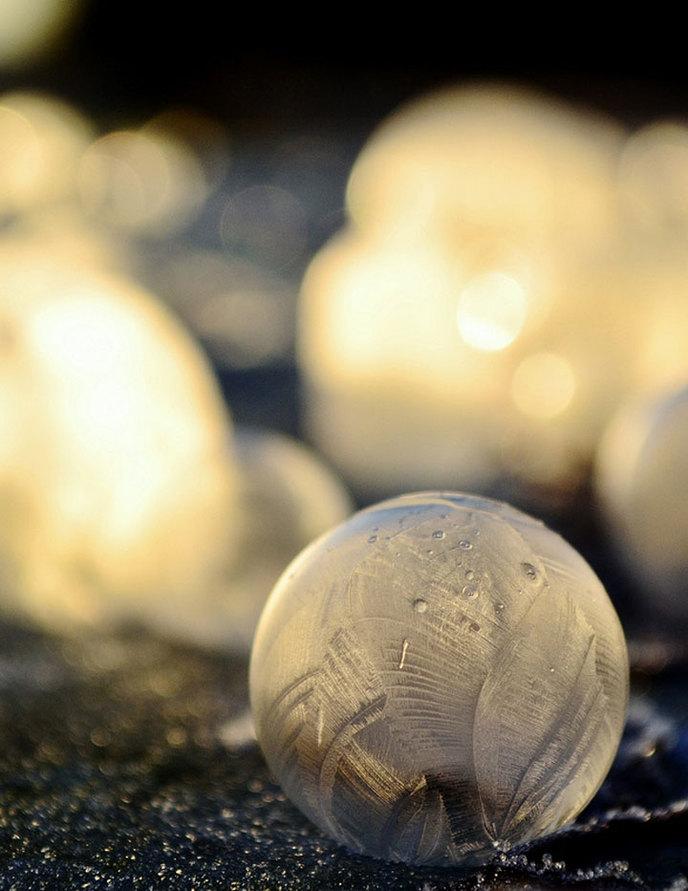 Bulles de savon cristallisées