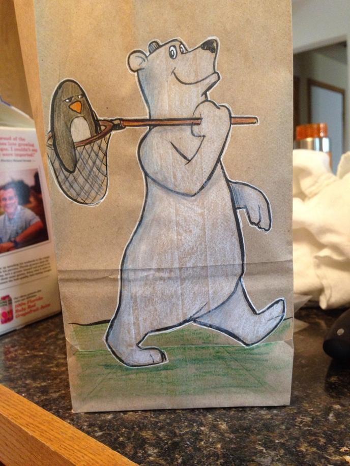 Ce p re dessine tous les jours sur le sac repas de son fils et c 39 est classe - Repas de tous les jours ...