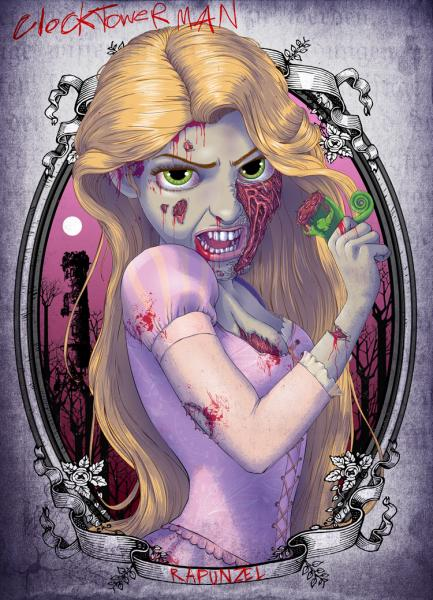 Les princesses Disney en version zombie  Zombie Disney Princesses