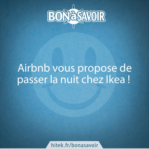airbnb vous propose de passer la nuit chez ikea. Black Bedroom Furniture Sets. Home Design Ideas