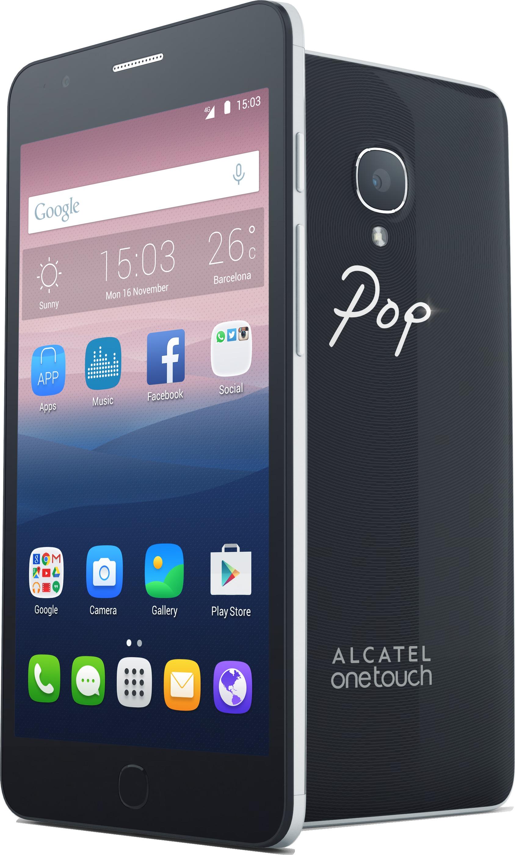 Alcatel onetouch pop up un smartphone coloré de pouces