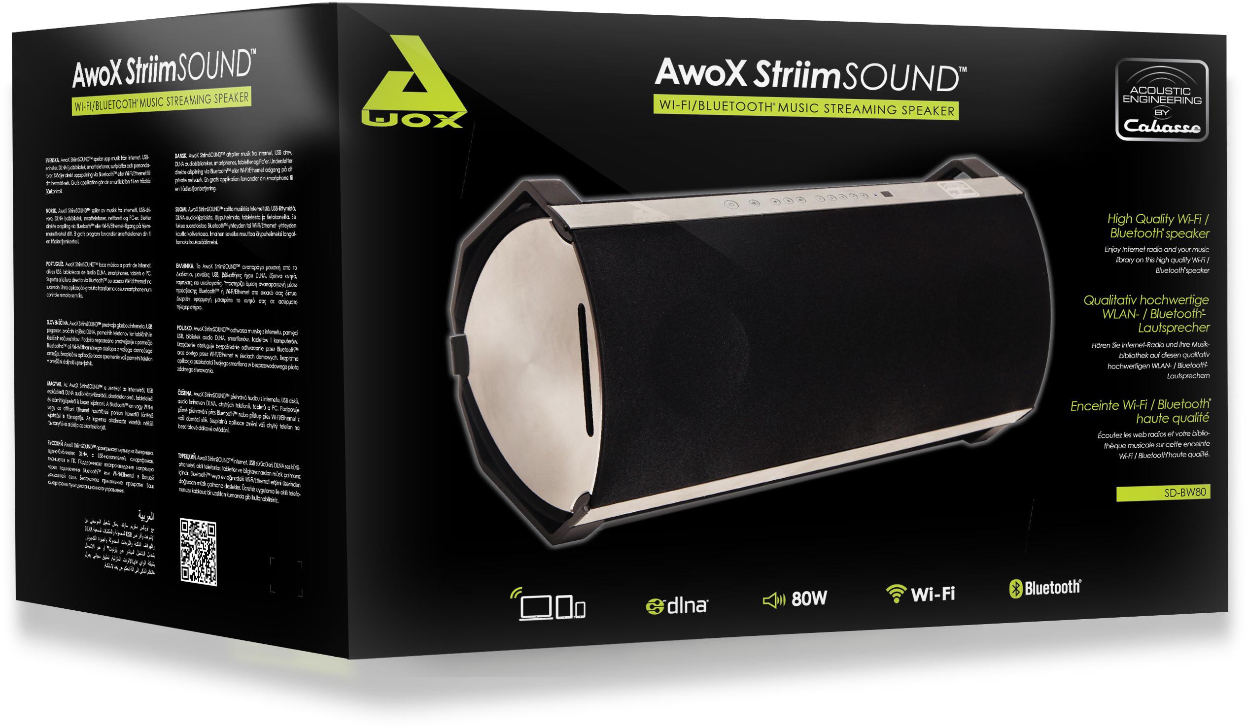 test awox striimsound qualit cabasse dans une enceinte. Black Bedroom Furniture Sets. Home Design Ideas