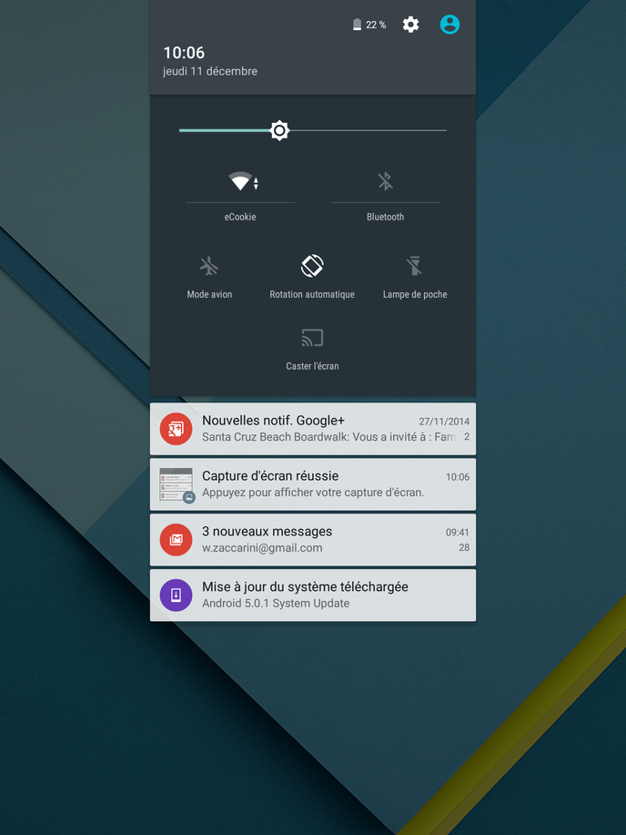 Screenshot Nexus 9