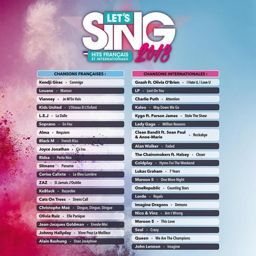 Let's Sing 2018 : Hits Français et Internationaux