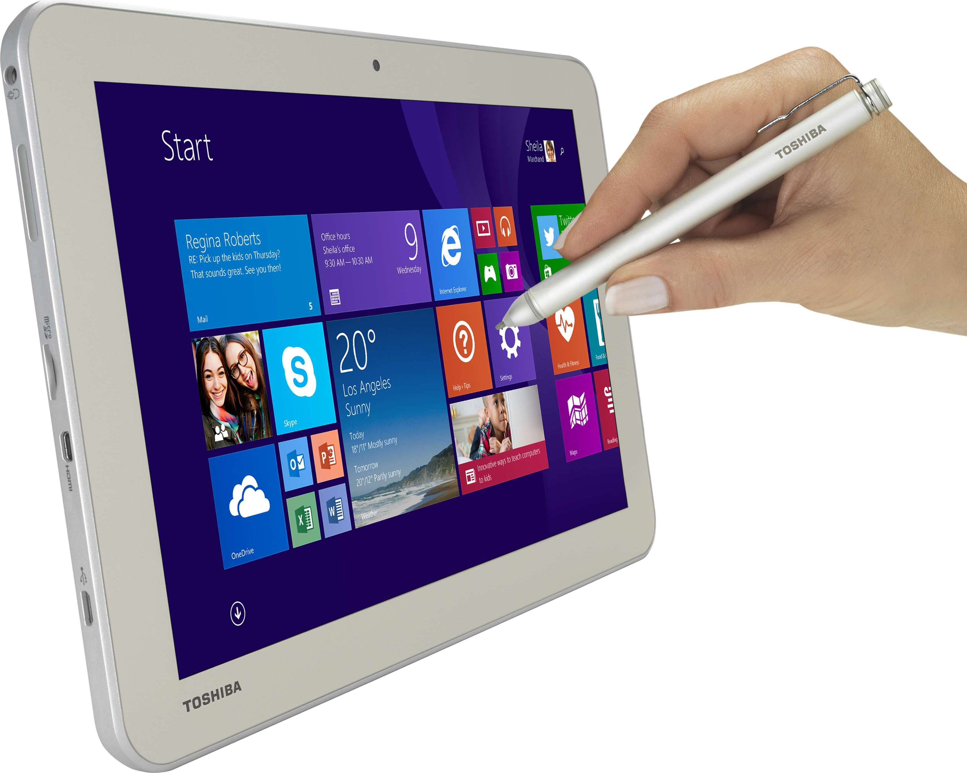 toshiba encore 2 write tablette windows avec stylet. Black Bedroom Furniture Sets. Home Design Ideas