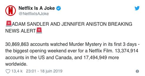 Murder Mystery, le film d'Adam Sandler explose un record sur Netflix !