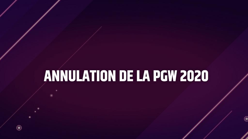 La Paris Games Week 2020 est annulée — Coronavirus