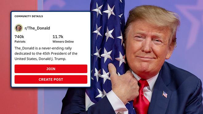 Reddit supprime un groupe pro-Donald Trump pour