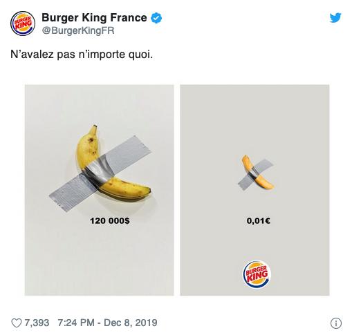 La banane à 120 000 dollars a été mangée