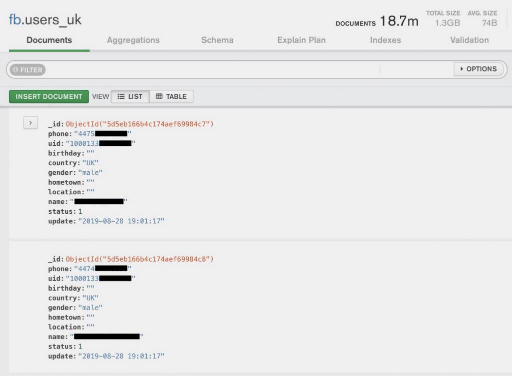400 millions de comptes touchés par une fuite de données — Facebook