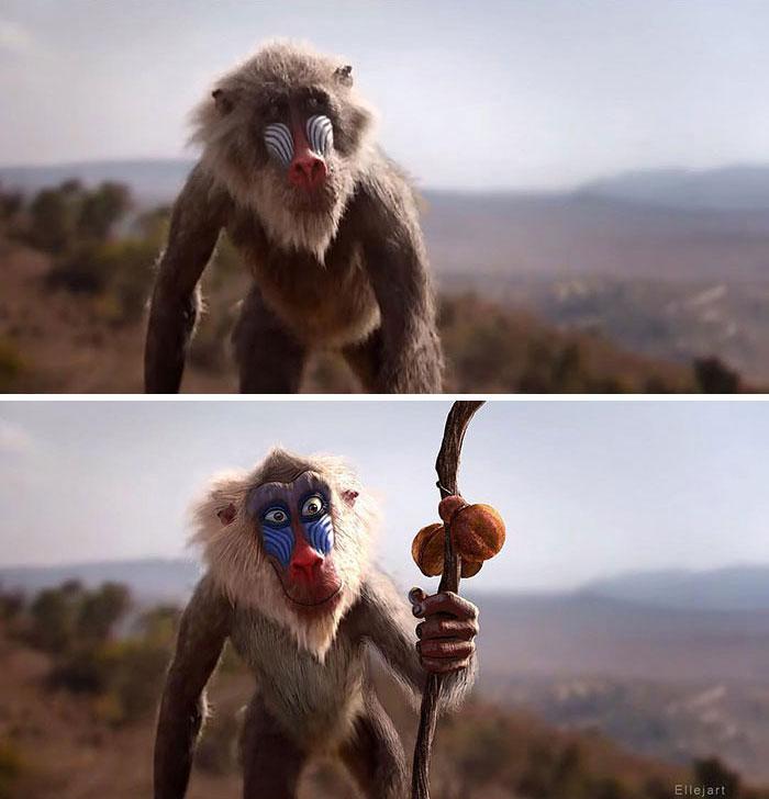 Le Roi Lion Et Si Le Film Live Avait Le Design Du Dessin Anime